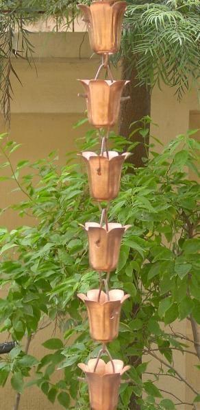Tulip Cup Rain Chains Rain Gutter Chain Copper Rain Chain