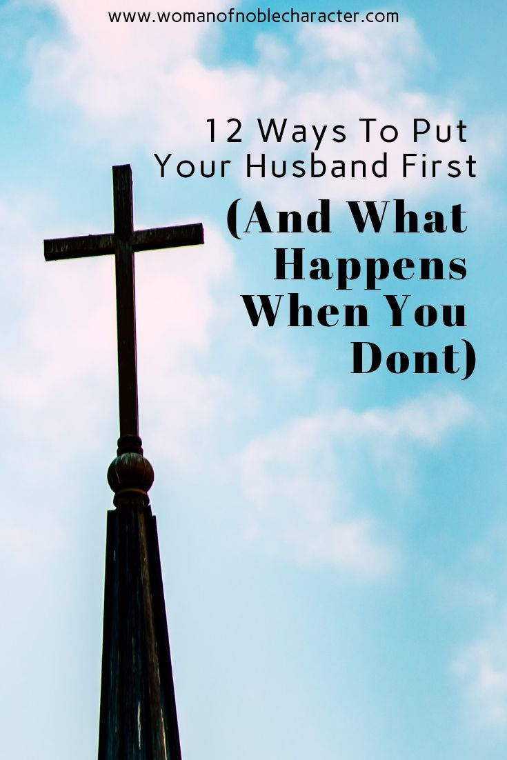 Who comes first husband or child bible