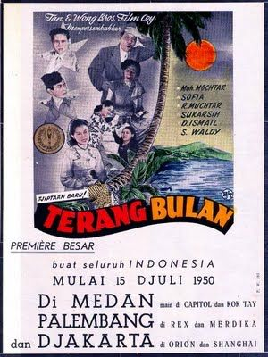 Indonesian Old Commercials: Terang Bulan Movie Poster 1950