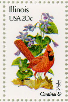 Illinois State Bird & Flower Stamp, 1982