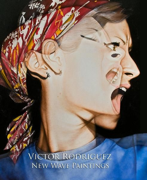 Love this painting—So dynamic. from book by Victor Rodriguez #portrait #new #wave