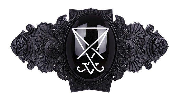 Restyle Gothic Occulte Satanische haarclip Zegel van Lucifer