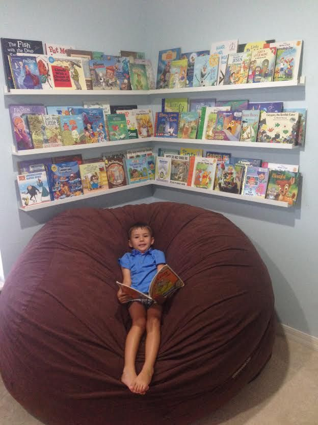 Bean Bags For Kids Room Part - 21: Reading Nook Corner For Kidu0027s Room. Ikea Ribba Photo Ledges As Book  Shelves/ Front Facing Display. Plus Bean Bag Chair The LoveSac.