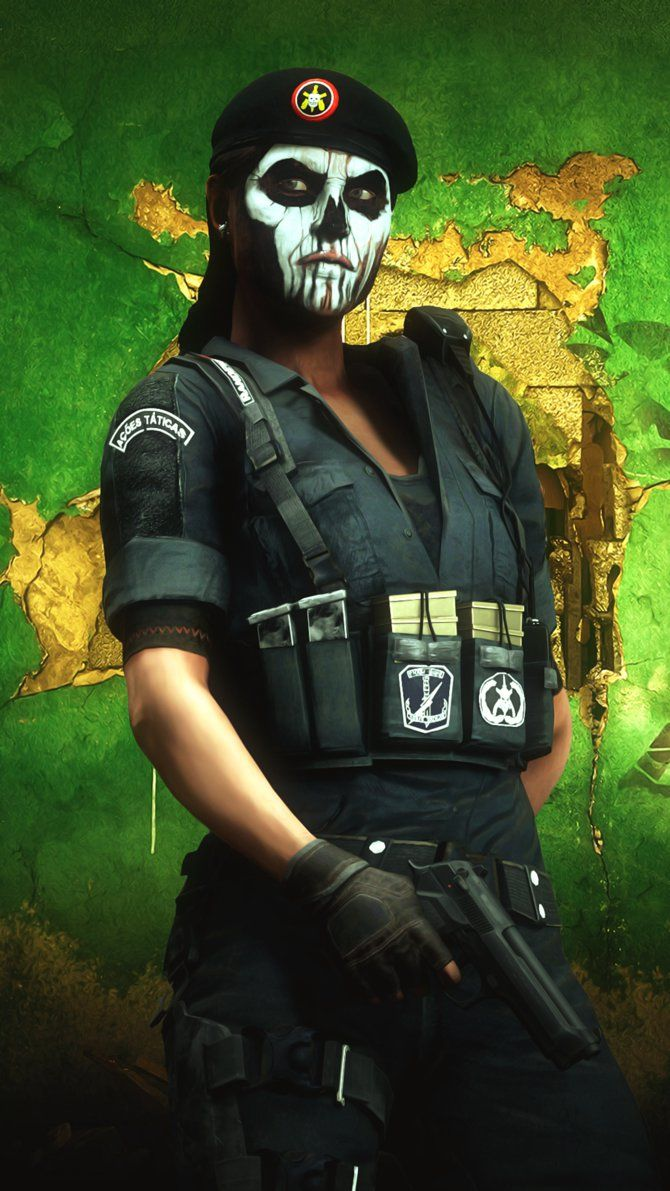 Rainbow Six Siege's Operator, Blackbeard's icon with added detail. I made this at 4am and didn't get any sleep, help. ;-;