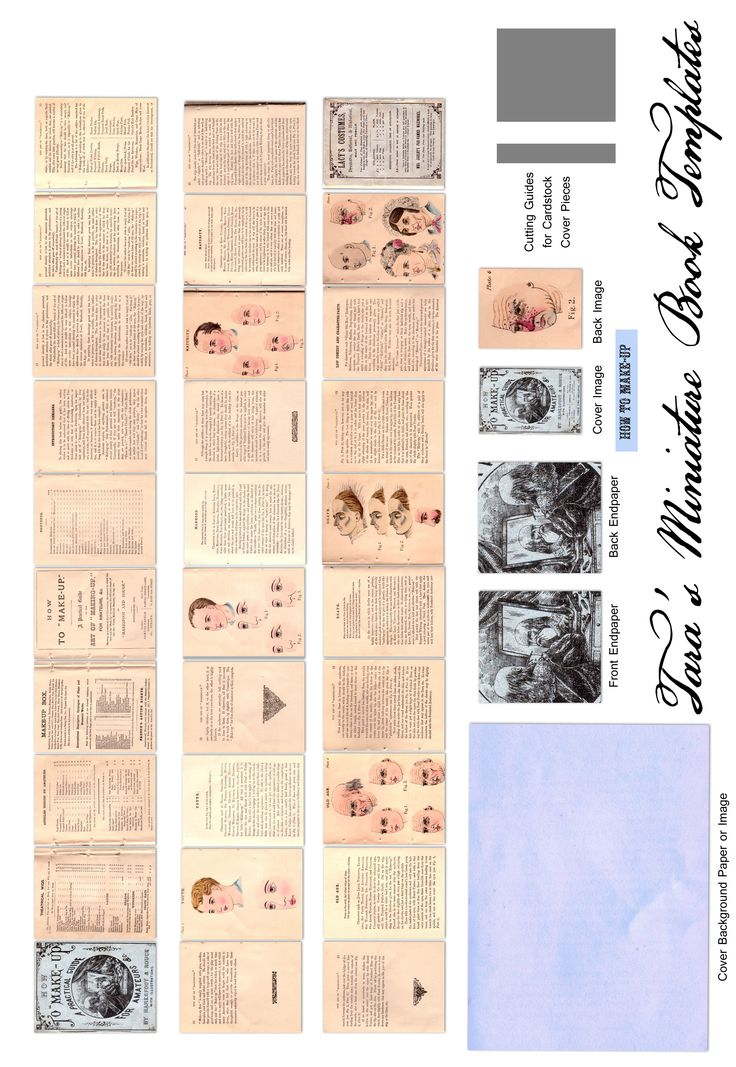 It is a graphic of Impertinent Miniature Books Printable