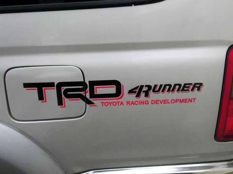 Product: Toyota Racing Development TRD 4Runner bed side graphic decals stickers