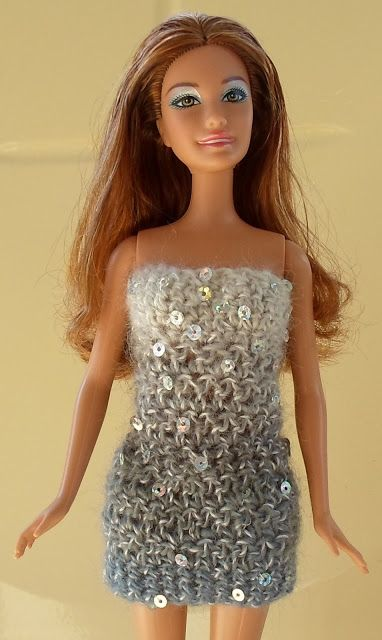 Happier Than A Pig In Mud: Blinged-Up Crochet Barbie Cocktail Dress Pattern