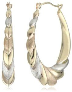 Orofusion Girl's 14k and Sterling Silver Textured Hoop Earrings Orofusion. $44.99. Crafted from bonded gold & silver. Made in BOLIVIA