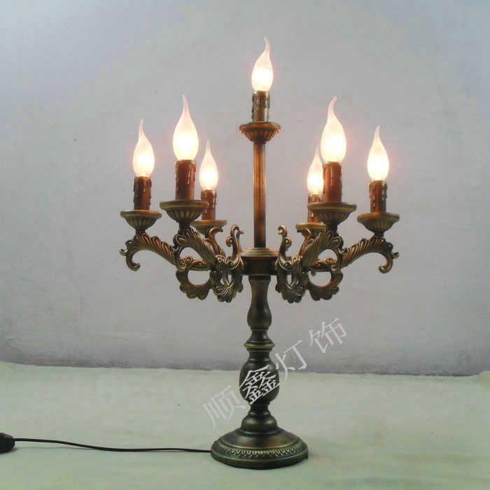 Освещение антикварный tieyi лаконичный свеча стол лампа кровать - освещение обучение лампа романтический лампа глаз затемнения