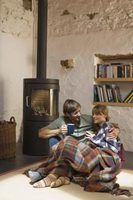 Wood stoves provide warmth and beauty.