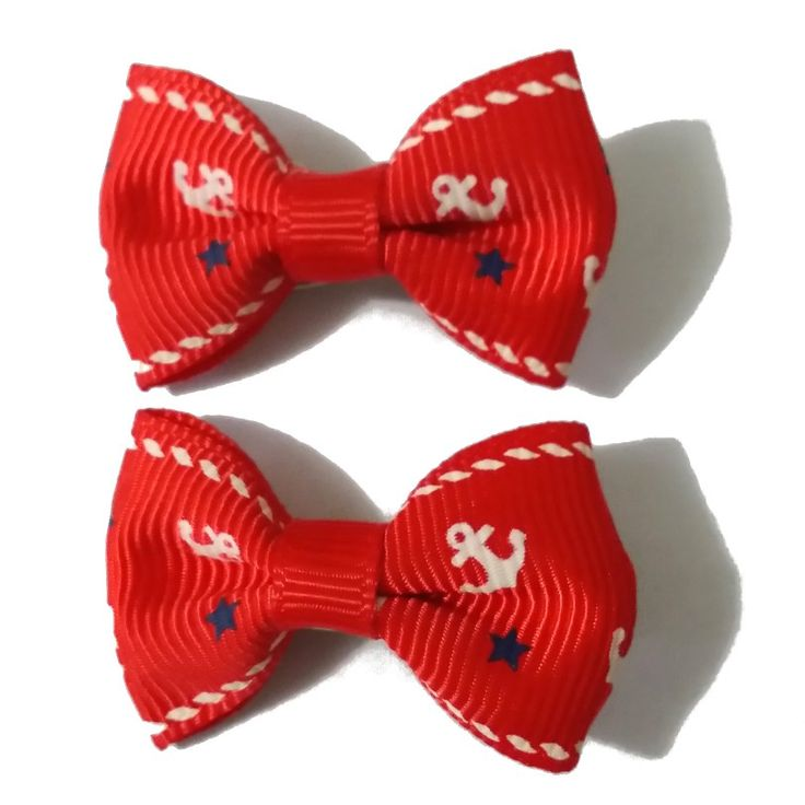 LittlePetPlanet.com - Red Anchors and Stars Bow Dog Hair Clips Barettes, US$4.99 (http://www.littlepetplanet.com/accessories/hair-bows/red-anchors-and-stars-bow-dog-hair-clips-barettes/)