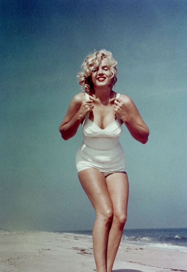 This is not the body of someone who weighs 120 pounds, but it is the body of a Goddess-Marilyn Monroe