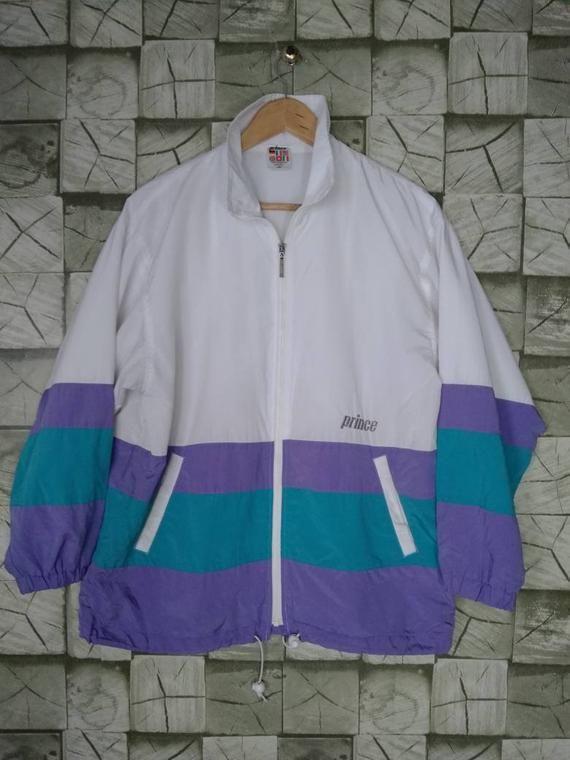 Prince 90s Jacket Multicolor Vintage Colorblock Windbreaker