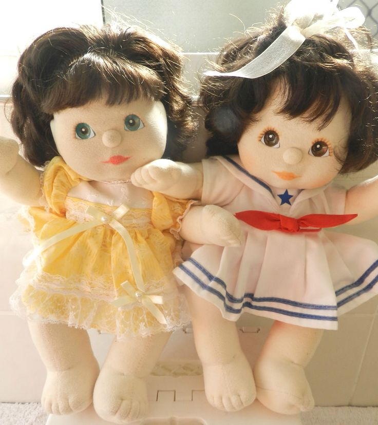2 MY CHILD DOLLS MID EIGHTIES ,CLOTHES TOO !!!