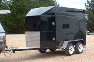 Custom built enclosed trailer made by Complete Weld in Mudgee, NSW, Australia.