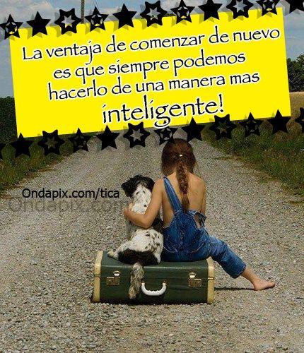 La ventaja de comenzar de nuevo es que siempre podemos hacerlo de una manera mas inteligente! #ComenzarDeNuevo #sabiduria #tarjetitas #ondapix