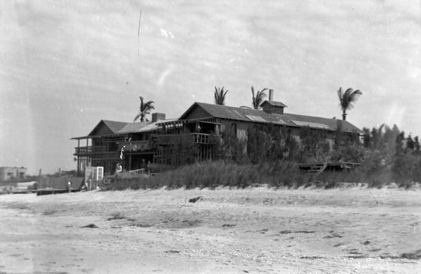 One team member remembers the Driftwood Hotel in Vero Beach that is still standing today. As a kid, he used to think it was literally made of driftwood (ca. 1950). | Florida Memory