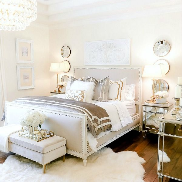 Luxurious Silver And Gold Fall Bedroom Fall Bedroom Bedroom