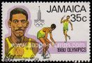 1980 Issue: Olympic Games, Moscow. Jamaican Olympic Gold Medal Winners. Arthur Wint (4x400 m Relay, 1952)
