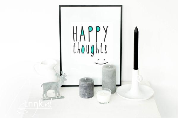 Vandaag deel ik weer een zelfgemaakte poster met jullie. Deze keer heb ik gekozen voor de simpele tekst 'Happy Thoughts' en een klein beetje kleur. Deze poster kun je net als de…