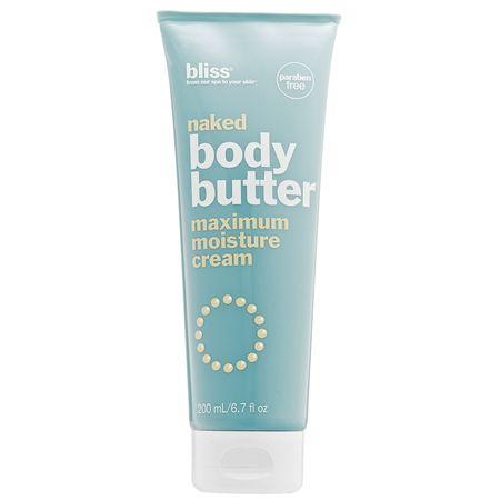 BLISS: Naked Body Butter: Olvídate de la resequedad y luce una piel sedosa.
