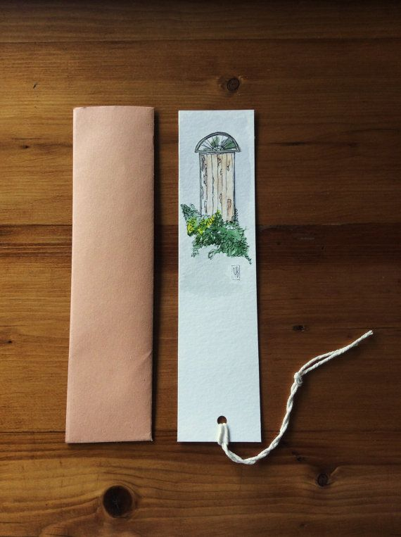 A delicate handmade bookmark of a fragment in Bokaap, Cape Town watercolour on acid free, age resistant, matte Britannia Watercolour paper 300gsm  5cm
