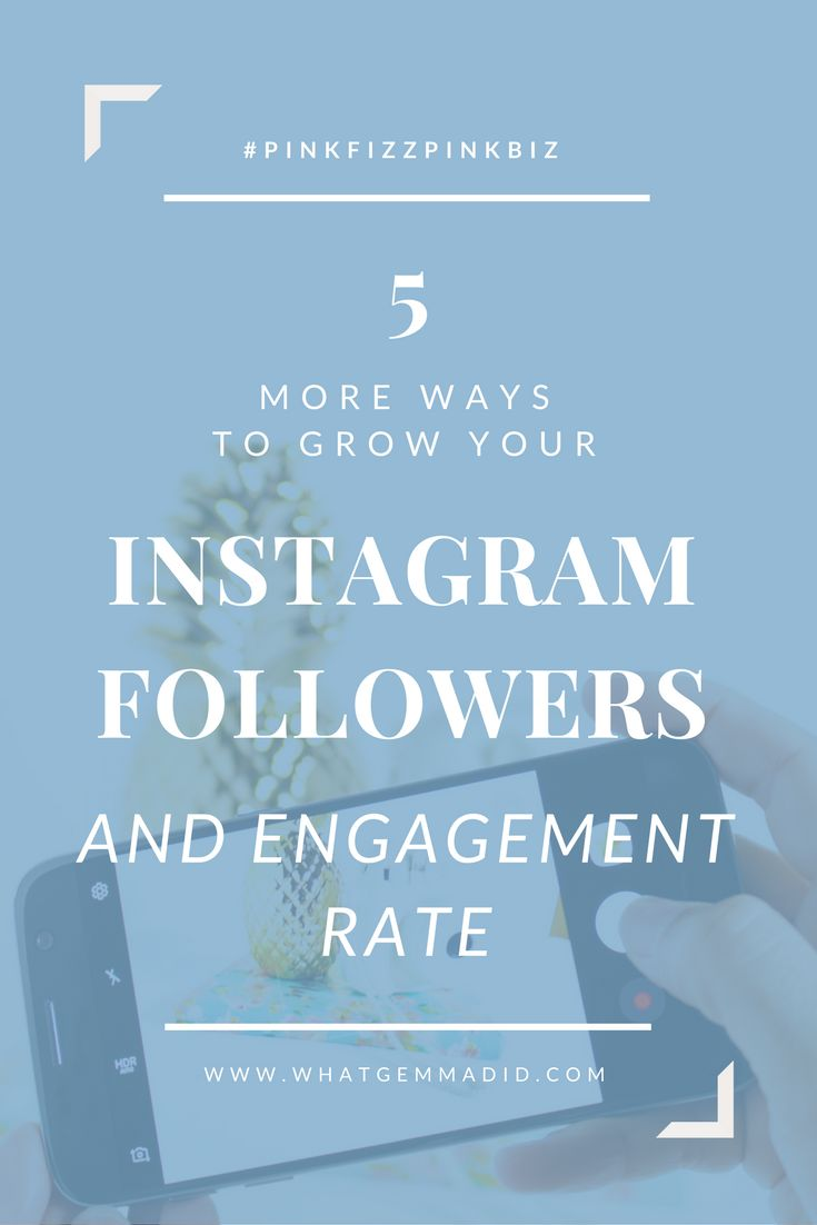 Here's a list of 5 more EASY ways to increase your Instagram followers and Engagement Rates. Boost your blog's Instagram by following these simple steps!