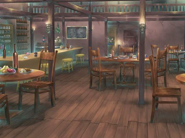 Anime Landscape: Restaurant Anime Background Anime background Anime places Anime scenery