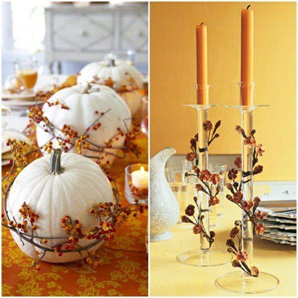 Autumn glass chandelier ellegant table
