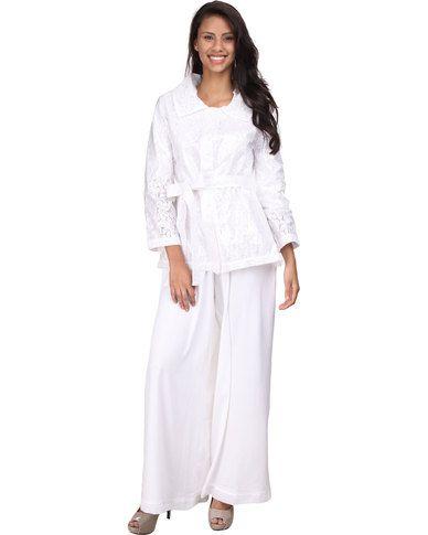 Ilan Lace Raincoat White