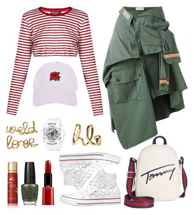 """jung ilhoon"" by armintautari on Polyvore featuring Faith Connexion, Dolce&Gabbana, Converse, G-Shock, Tommy Hilfiger, Armitage Avenue, Atelier Paulin, Yves Saint Laurent, OPI and Giorgio Armani"