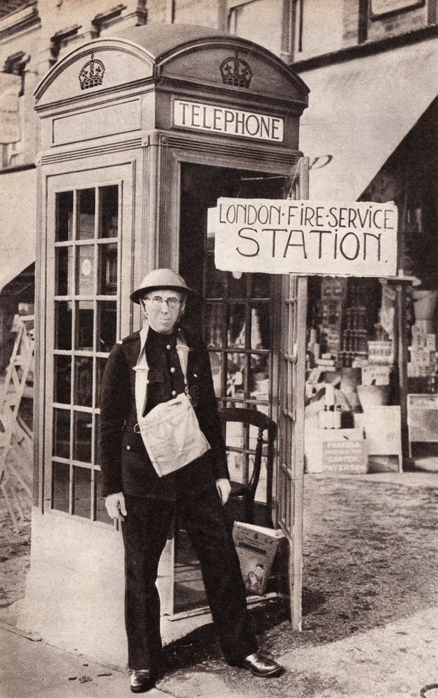 The London's smallest fire station.  From Picture Post, September 16th 1939.