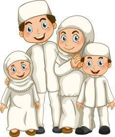 26 Gambar Kartun Muslim Ayah Ibu Dan Anak- Kartun ...