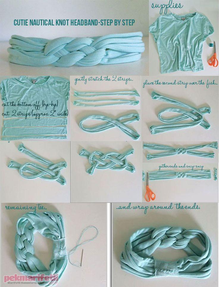 Eski tişörtten örgü bandana yapımı | Takı Tasarım | Pek Marifetli!