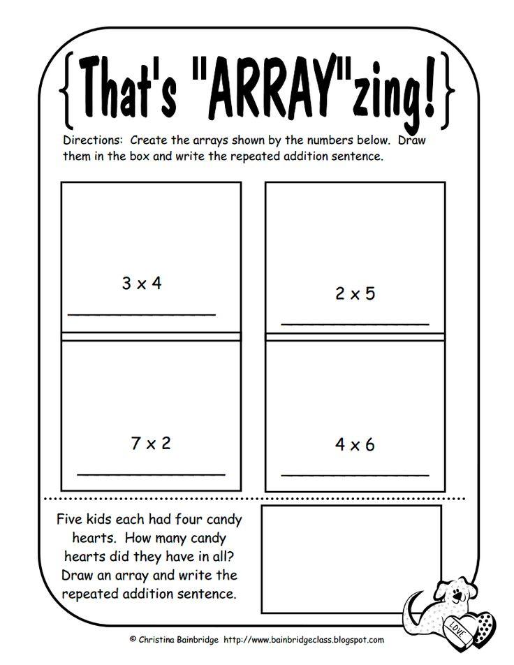 56 Best Math Arrays Images On Pinterest Math Activities Array
