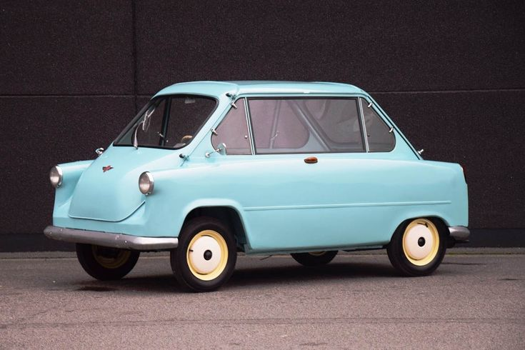 Rare 1958 Zundapp Janus microcar for sale, famous for having a door and both ends and rear-facing seats in the back.
