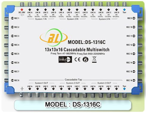 Satellite TV switch DS-1316C(cascadable) and 12 satellite signals and 1 TV signal input for 16 users to watch - http://nk-reviews.com/products/satellite-tv-switch-ds-1316ccascadable-and-12-satellite-signals-and-1-tv-signal-input-for-16-users-to-watch/