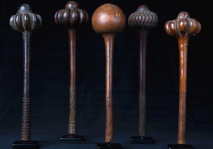 Fiji | Ula throwing clubs| 19th century