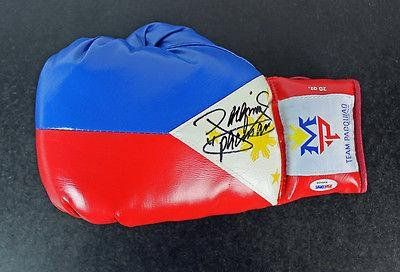 Manny Pacman Pacquiao Signed Team Pacquiao Boxing Glove #W98498 - PSA/DNA Certified - Autographed Boxing Gloves @ niftywarehouse.com #NiftyWarehouse #PacMan #VideoGames #Pac-man #Arcade #Classic