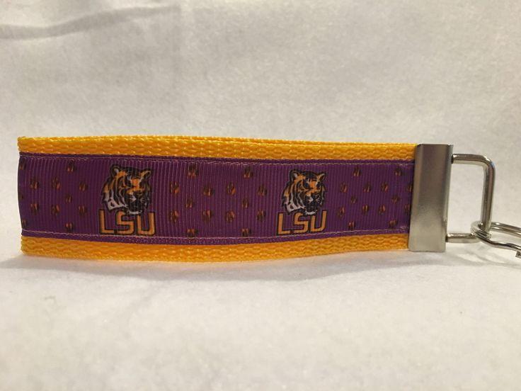 Louisiana State University Tigers Keychain, LSU Tigers Ribbon, LSU Tigers Gifts