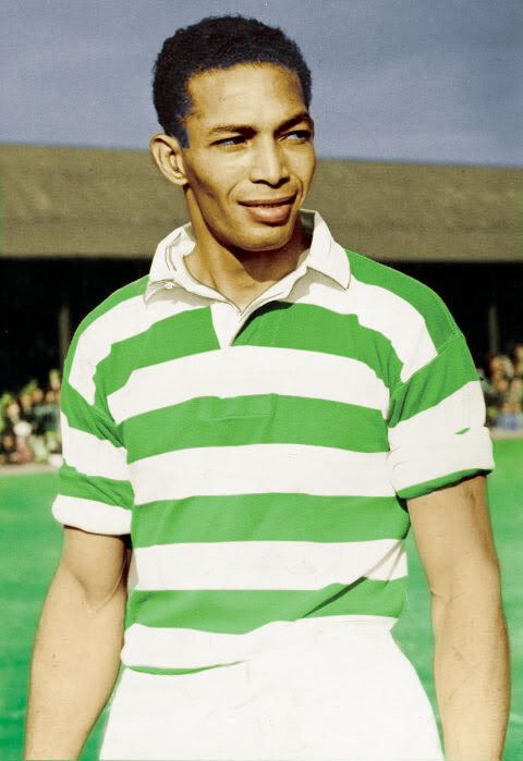 Gil Heron, who was Glasgow Celtic's first black player.  He also played in the states and fathered the poet Gil Scott Heron.