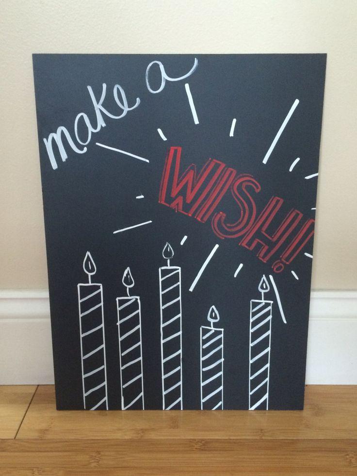 Happy Birthday chalkboard by BeautifullyChalked on Etsy