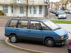 Car 18 our first Renault an Espace 2000 very versatile and a bit different back then.