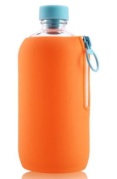 Aquaovo 'LAB[O] - Space Odyssey' Glass Bottle with Silicone Sleeve - Orange