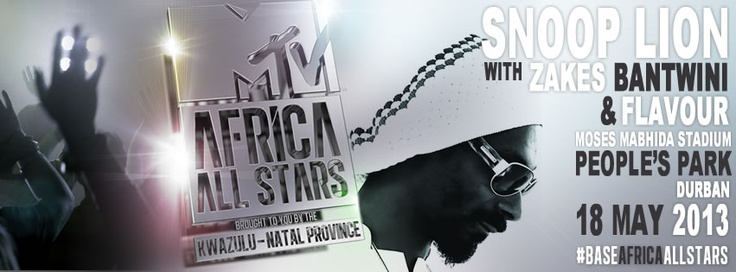 18 May - Zakes Bantwini & Flavour to rock Durban with Snoop Lion.