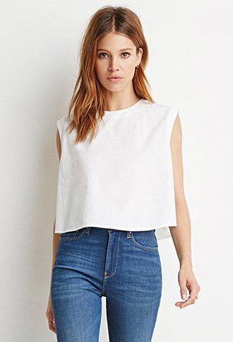 Contemporary Boxy Cotton Top | LOVE21 - 2000161413