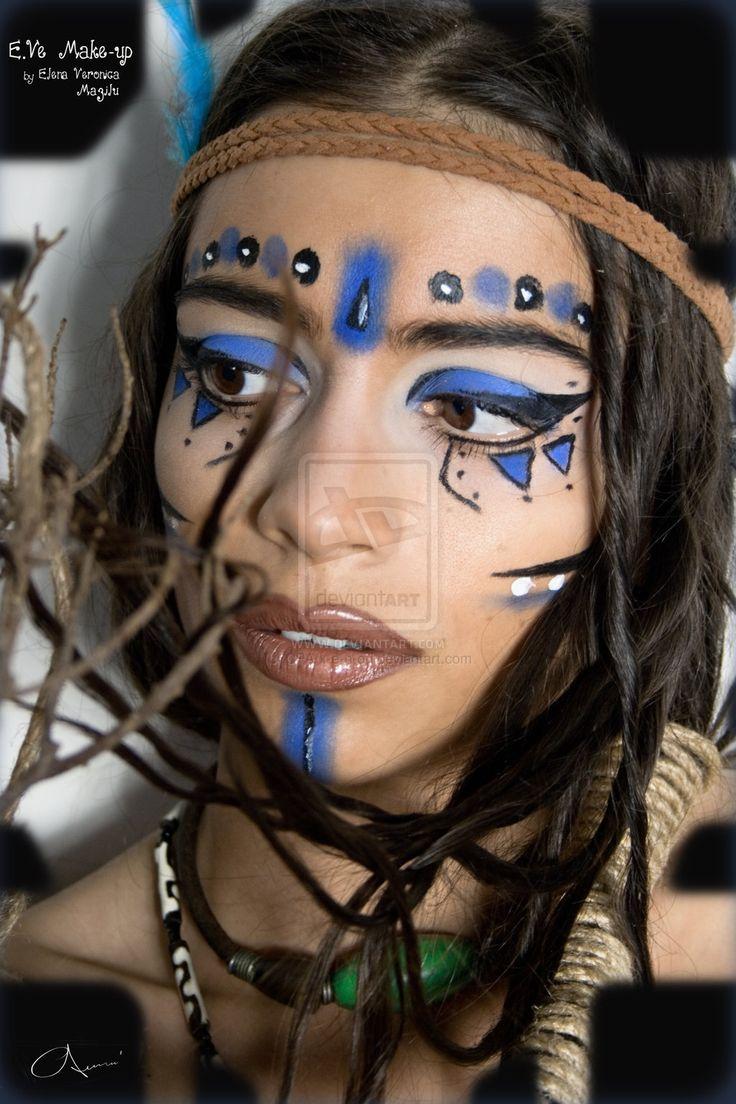 Warrior Princess Tribal Make-up by ~CPA-x-e-n-o-i on deviantART