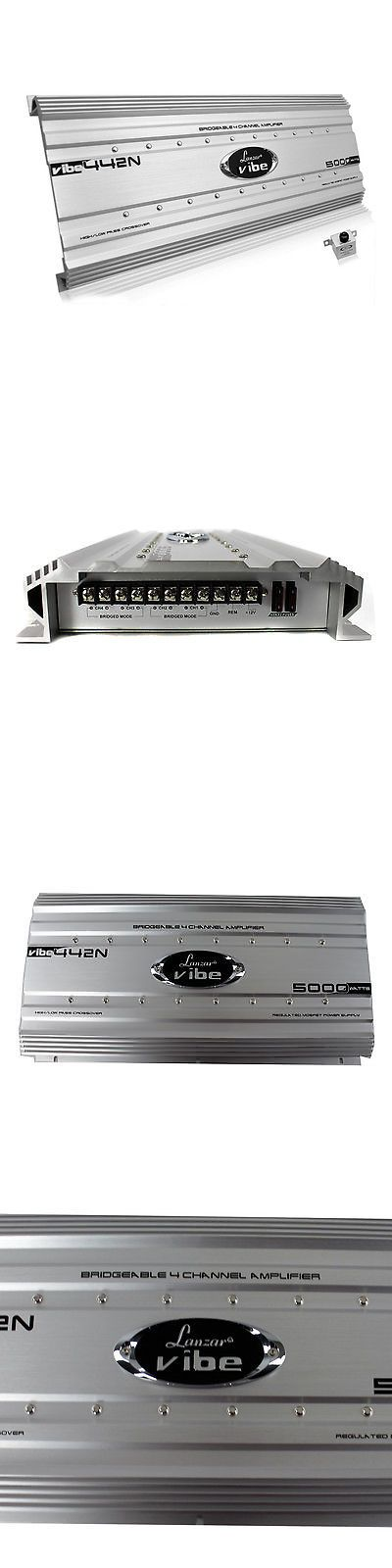 Car Amplifiers: Lanzar 5000 Watt 4 Channel Bridgeable Car Audio Stereo Amplifier With Bass Knob -> BUY IT NOW ONLY: $147.95 on eBay!