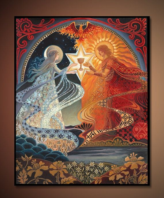 Alchemy:  #Alchemical Wedding: The Sacred Marriage, 16x20 by Emily Balivet.