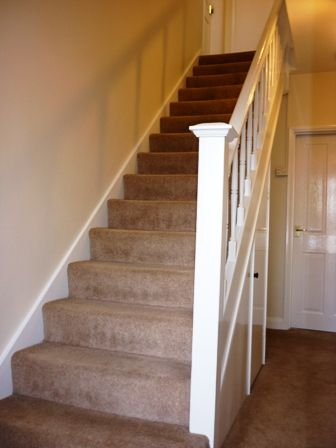 Dulux almond white walls. Remember camera images pick up colour differently to the naked eye. http://www.cabotdecorating.co.uk/latest-news/wp-content/uploads/Decorating-Hall-Stairs-in-Downend-7.jpg